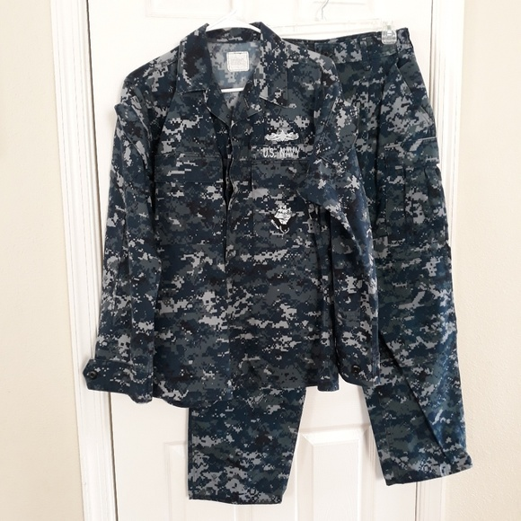 ce94fdc81ecf2 military Jackets & Coats | Us Navy Working Uniformdigital Blue Camo ...